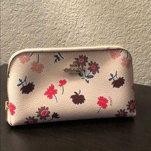 Coach daisy flower cosmetic bag